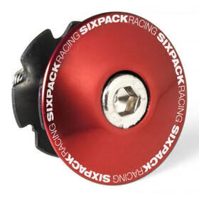 "Sixpack Bouchon A-head 1 1/8"" avec pince, red"